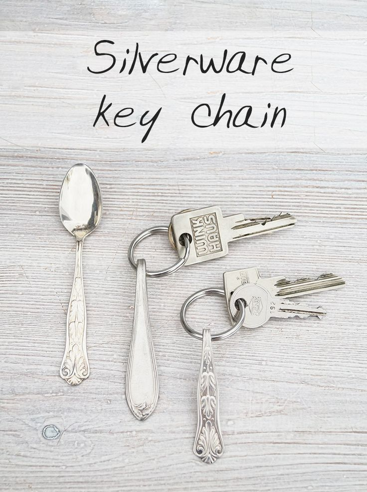 Besteck-Schlüsselanhänger - Silverware key chain - DIY tutorial in English and German