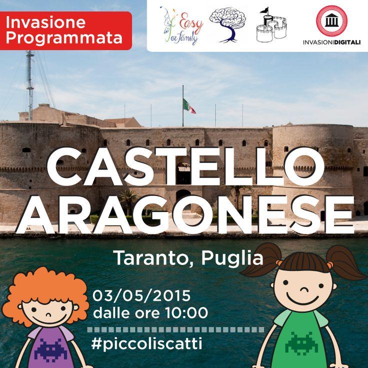Piccoli invaders al Castello Aragonese di Taranto