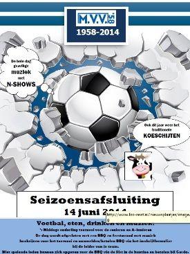 Afsluiting voetbalseizoen MVV 58 2013-2014