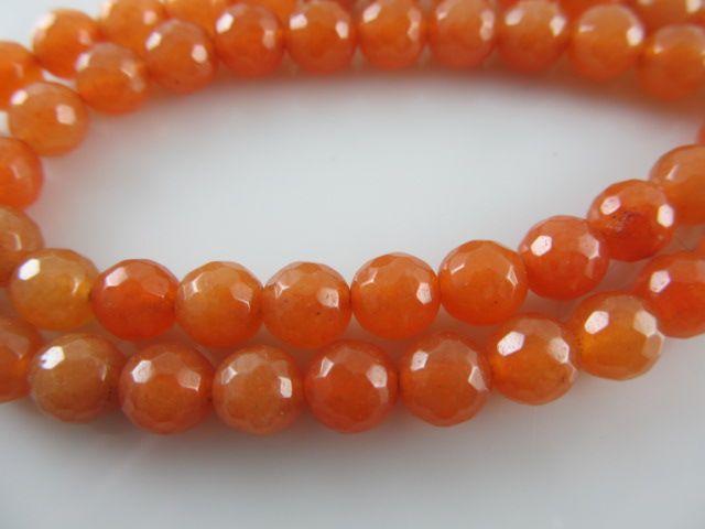 Aventurijn facet oranje kraal 6 mm
