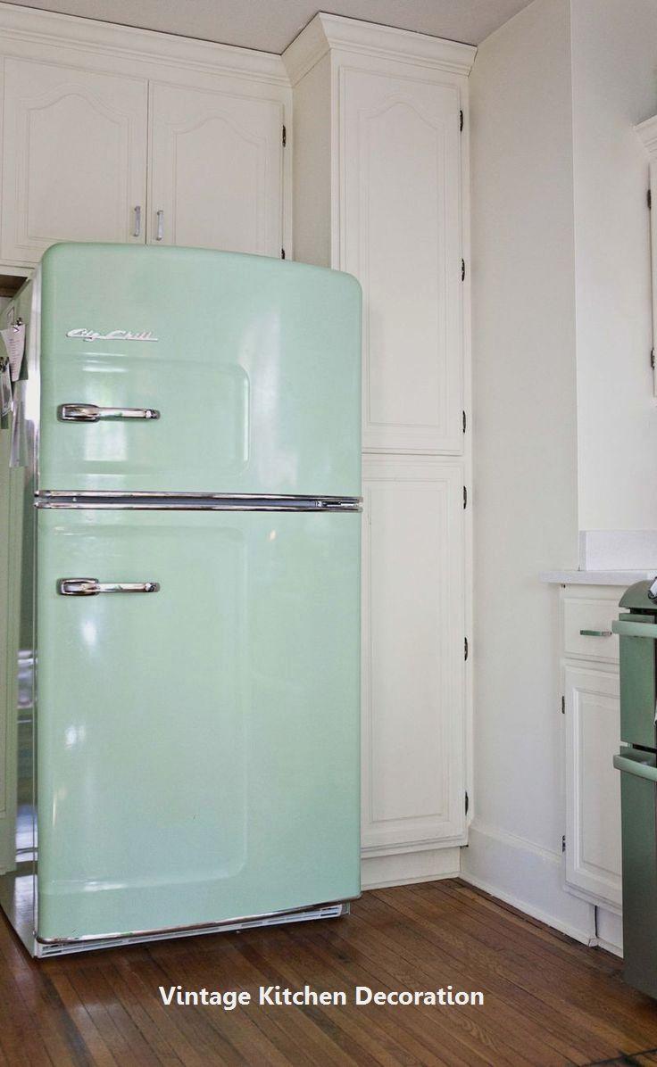 DIY Vintage Ideas For Kitchen: 1. Wooden kitchen cupboard ...