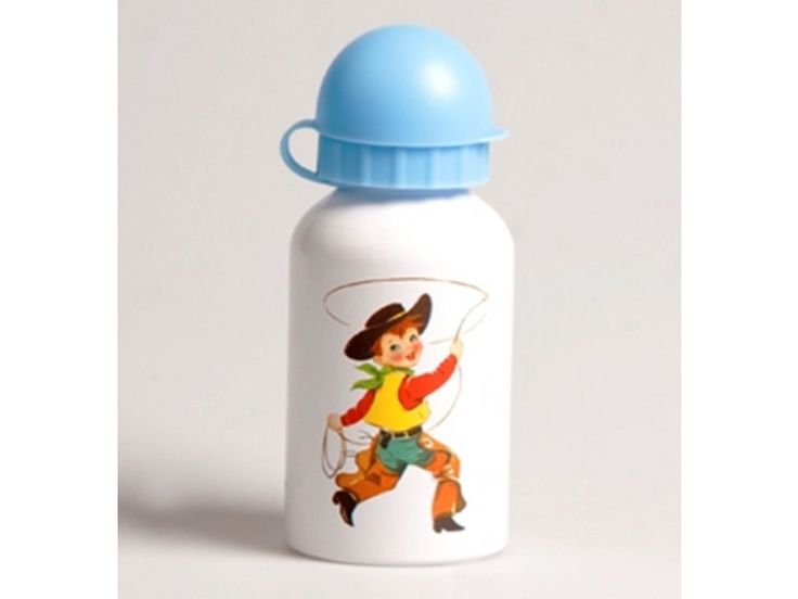 Drinkbottle Cowboy and Indian #retro #kids