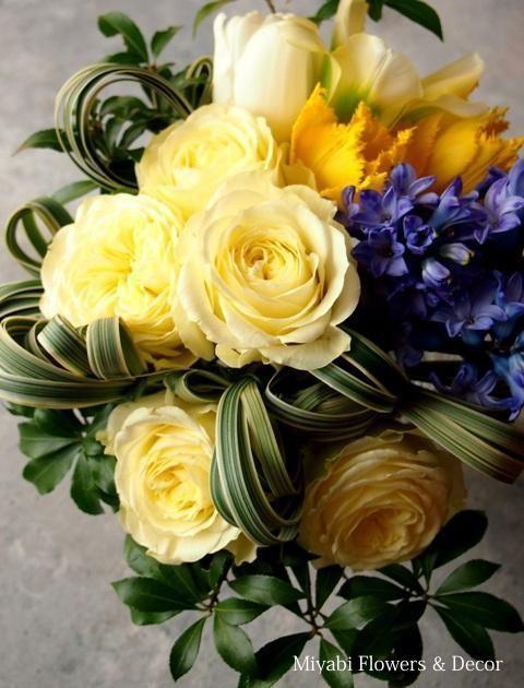 Bouquet,Rose,Hyachinth,Tulip,Yellow,Spring,ブーケ,ローズ,チューリップ,ヒヤシンス,Miyabi Flowers & Decor