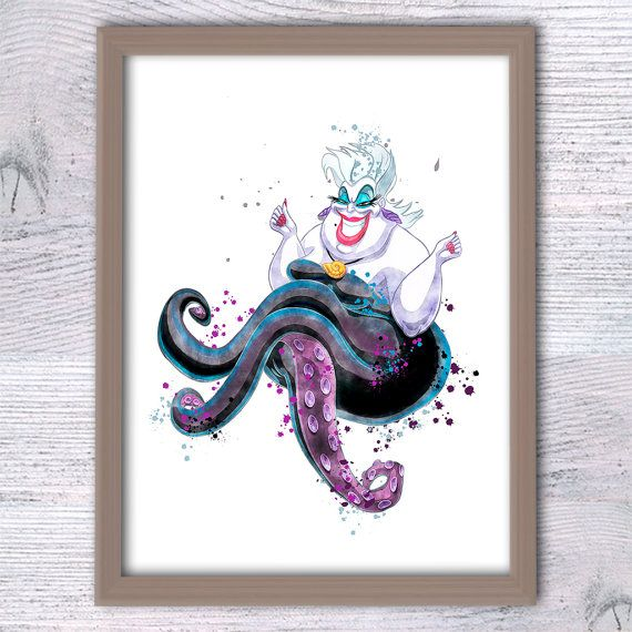 Mermaid Gifts Mermaid Decor Mermaid Art Print Mother S: 280 Best Images About Disney Baddies & Villains (Excluding