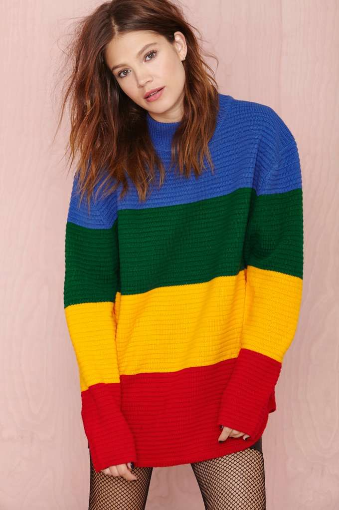 We might have outgrown coloring, but this UNIF sweater is most definitely on our radar.