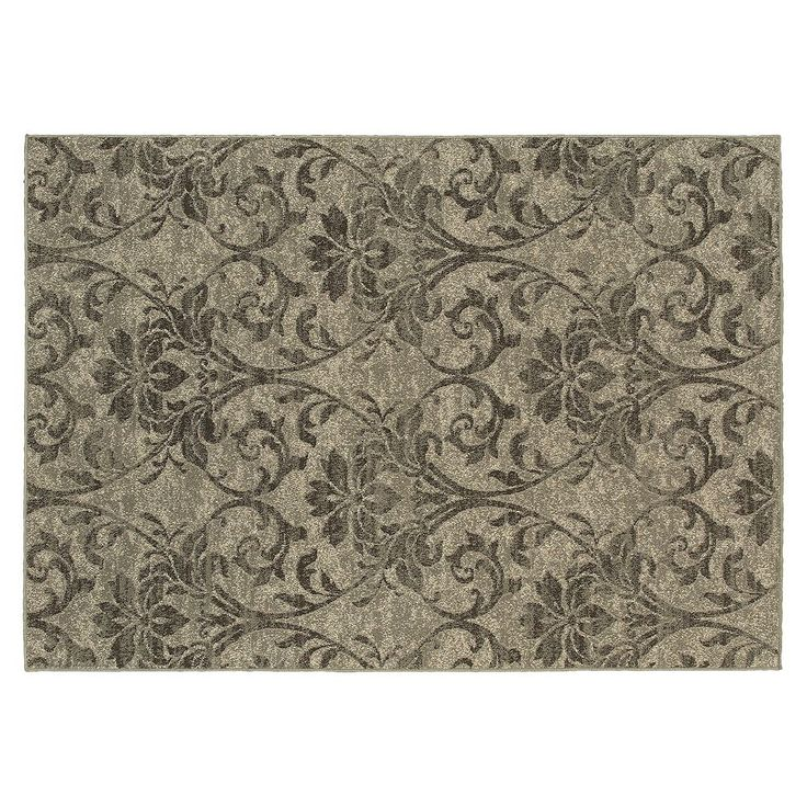 StyleHaven Harrison Floral Damask Rug, Grey