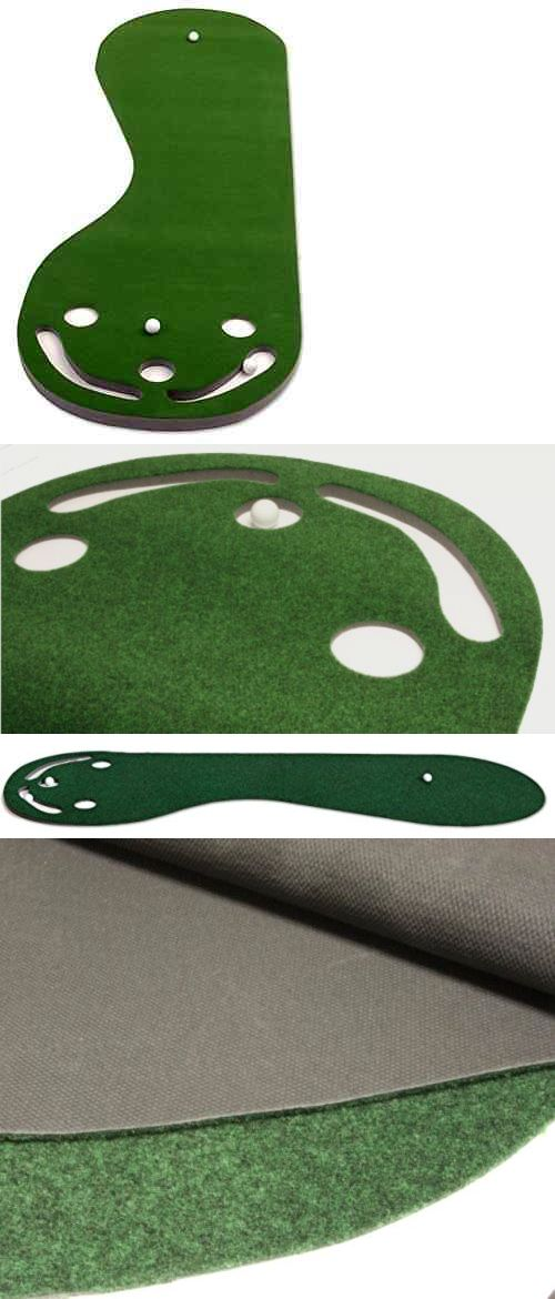 Putting Greens and Aids 36234: Indoor Par Three Practice Putting Green Golf Training Aid Mat Home Turf Putt New BUY IT NOW ONLY: $47.11