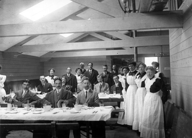 Stewards Of The Sunken Titanic Wait In A Dining Room While Attending Inquiry Into Sinking
