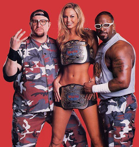 The Dudley Boyz and Stacey Kiebler the dutchess of Dudley Ville