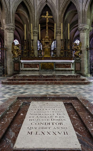 Tomb of William the Conqueror (Guillaume le Conquérant) - Abbaye aux Hommes, Caen, Normandy, France