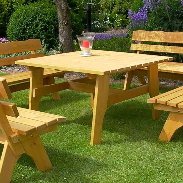 Garten Esstisch Aus Kiefer Massivholz 120 Cm Breit  Holztisch,gartentisch,massivholztisch,küchentisch,