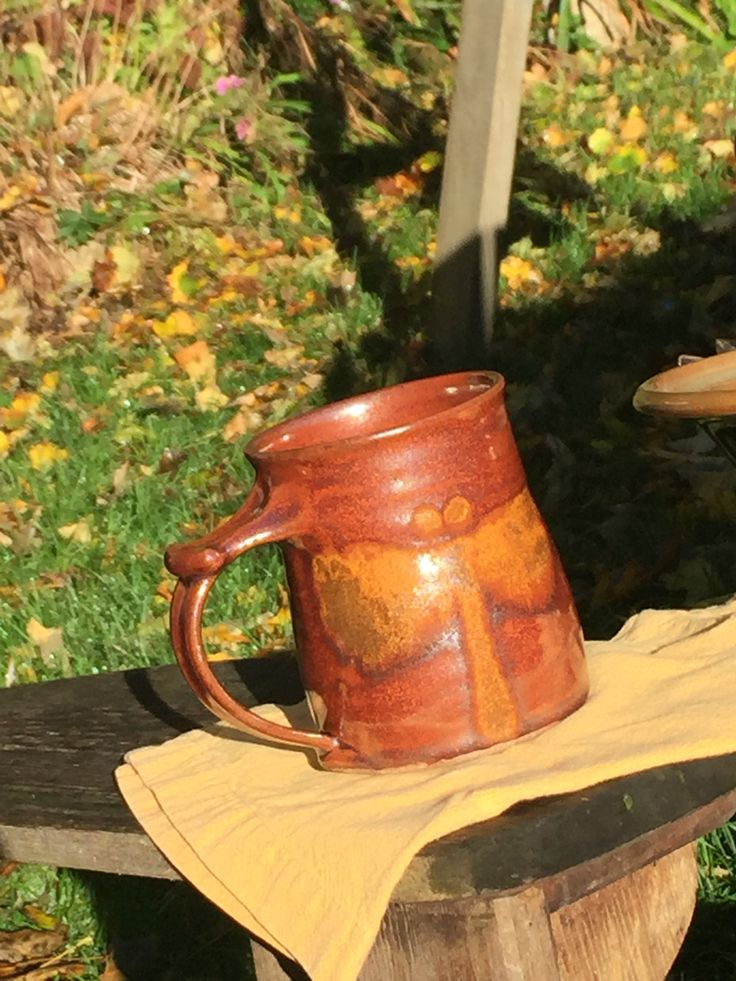 http://richardfisherpottery.com/ Brand New Red Glaze Coffee Mug