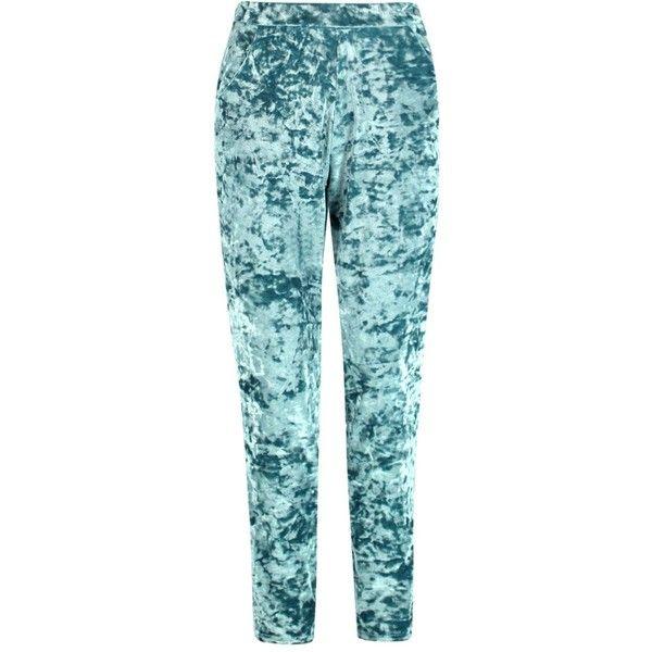 Boohoo Sarah Skinny Velvet Trouser | Boohoo ($20) ❤ liked on Polyvore featuring pants, blue skinny pants, skinny fit pants, velvet pants, skinny pants and velvet skinny pants