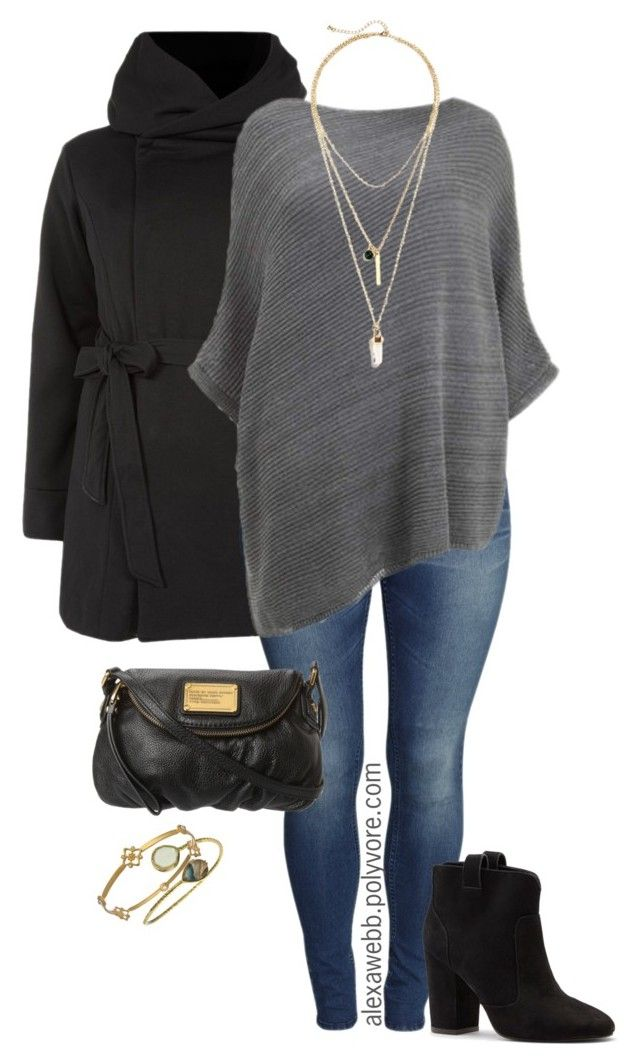 Plus Size - Poncho & Booties by alexawebb on Polyvore featuring H&M, Sole Society, La Radiant, Joey J., women's clothing, women's fashion, women, female, woman and misses