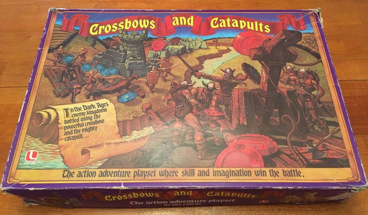 Vintage 1983 Crossbows and Catapults Battle Game w/ Box, Expansion Pack Lakeside  | eBay