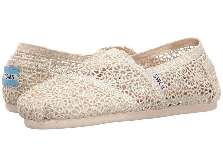 TOMS TOMS - CROCHET CLASSICS (NATURAL MOROCCAN CROCHET) WOMEN'S SLIP ON  SHOES. #toms #shoes #