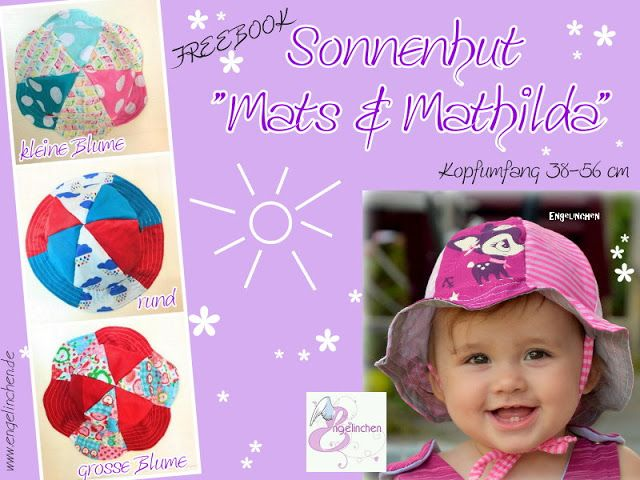 Freebook Sonnenhut Mats & Mathilda - Sommermütze, Sonnenhut für Kinder