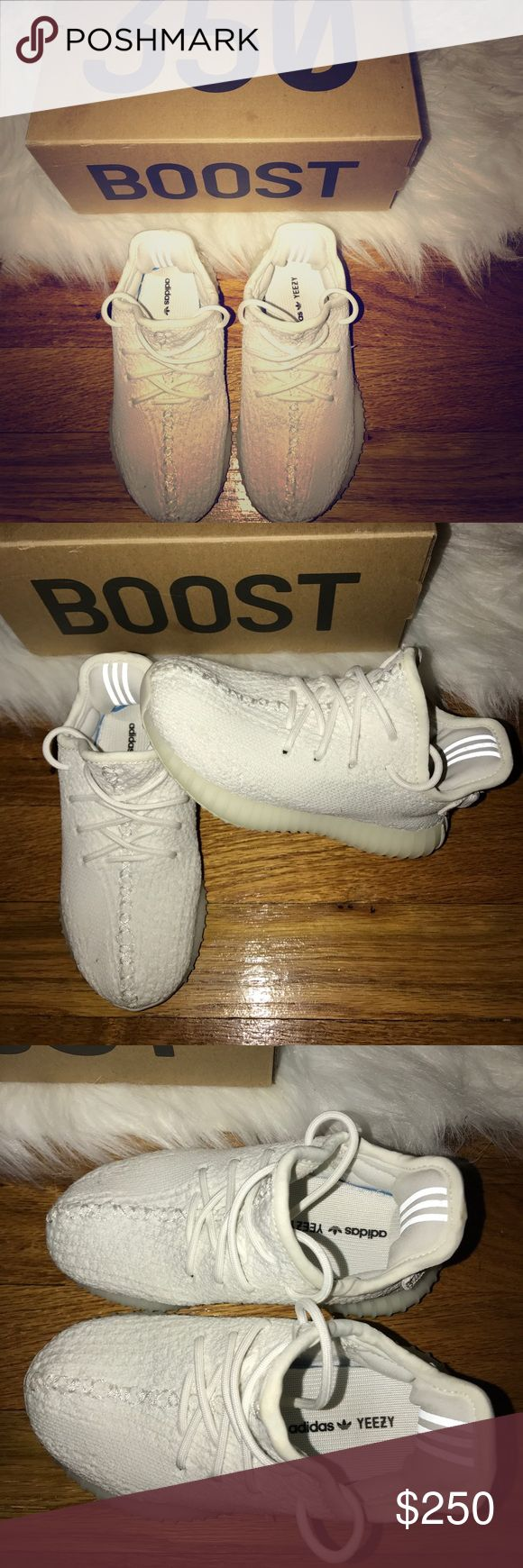 Kids yeezy boost All white Yeezy Shoes Sneakers