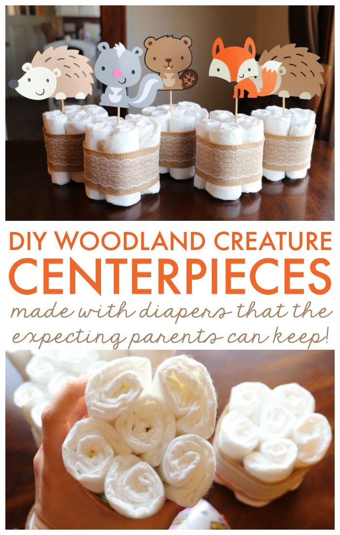 Diy Woodland Creature Centerpieces For A Baby Shower With Images