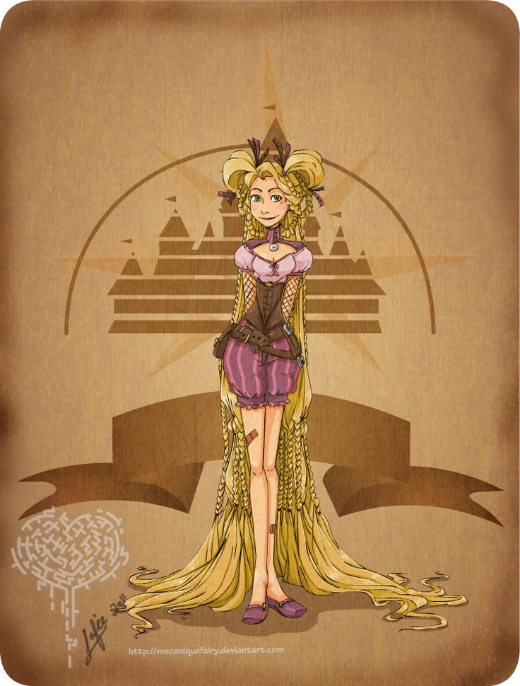 RAPUNZEL, TANGLED This Is What It Looks Like When Disney Characters Get Steampunk Makeovers