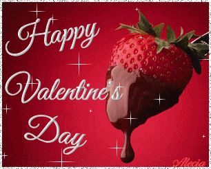 Happy Valentine's Day love kiss pink red candy flowers heart chocolate roses romance valentine's day cherries cupid