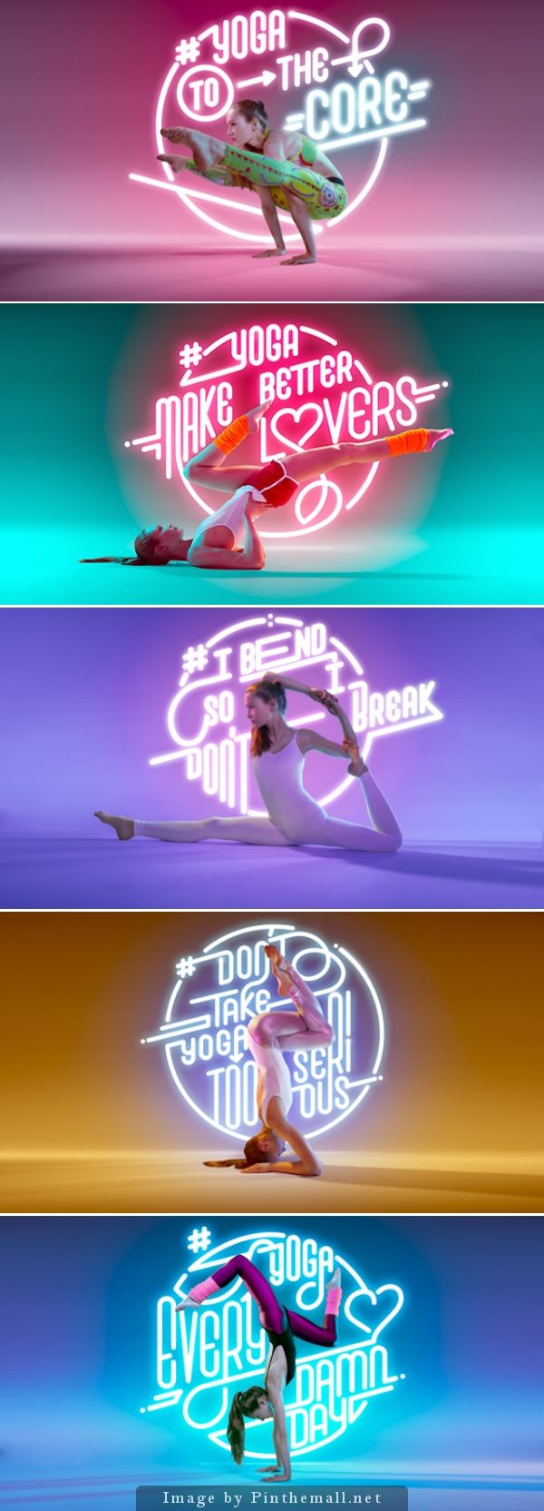 #photography #inspiration | Yoga To The Core | Neon light shot by Allemand Björn Ewers of Studio 314