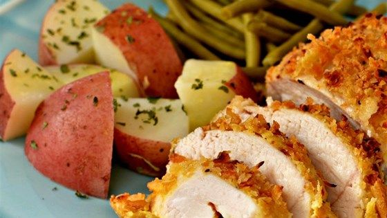 This quick and easy recipe makes an awesome crunchy baked chicken that goes with any side dish.