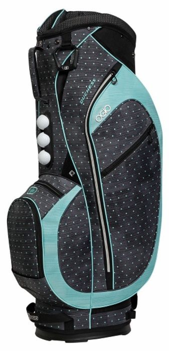 Ogio Women's Duchess Polka Dot / Mint Golf Cart Bags at #lorisgolfshoppe