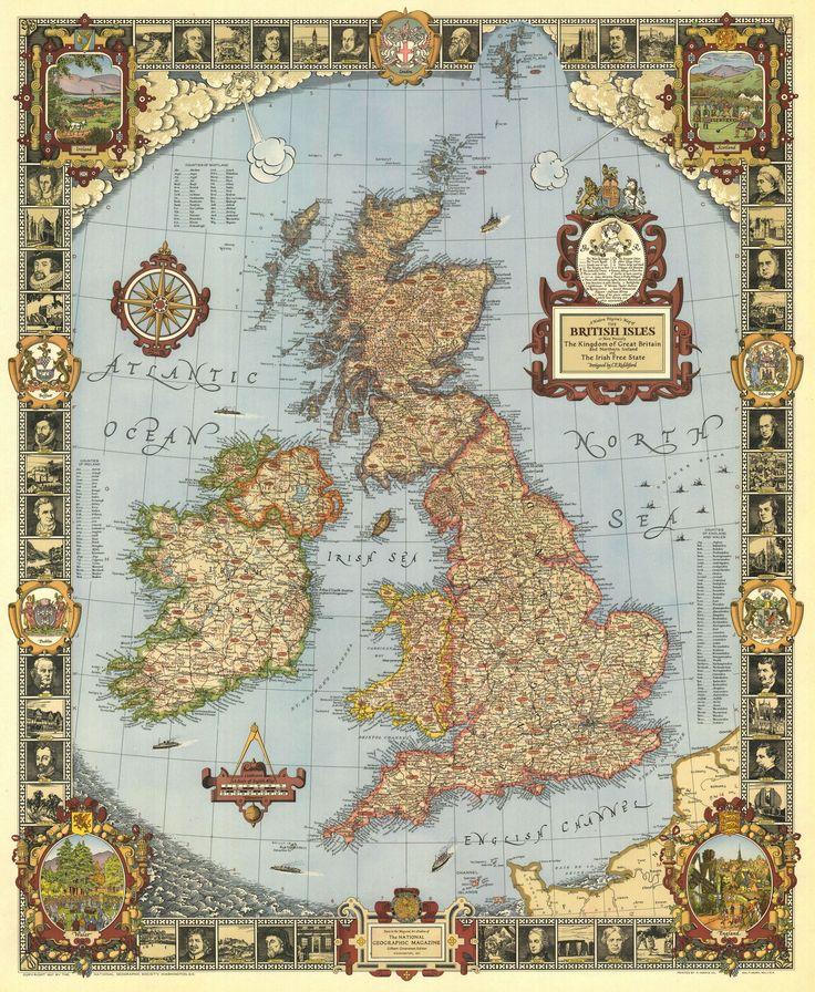 Great Britain A Modern Pilgrimu0027s Map