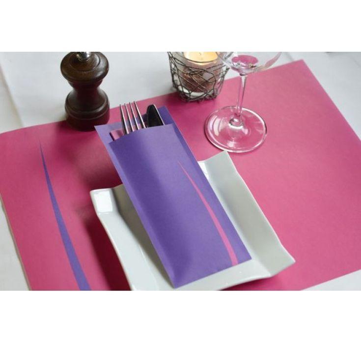 Suport Tacam Bari  Mov servetel clasic roz 8,5x20 cm /600buc.