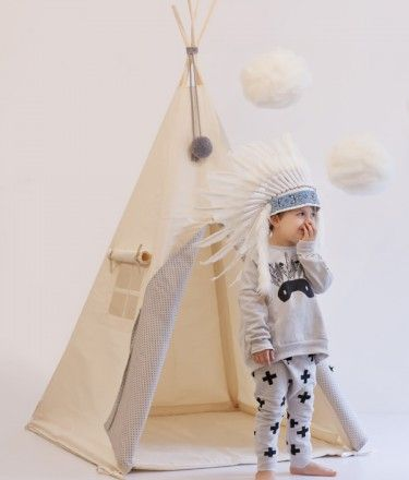 Natural Tipi in Mist and Grey Stars