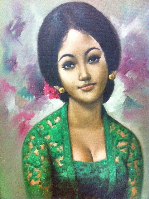 Gadis Kebaya - a painting I found at a flea market