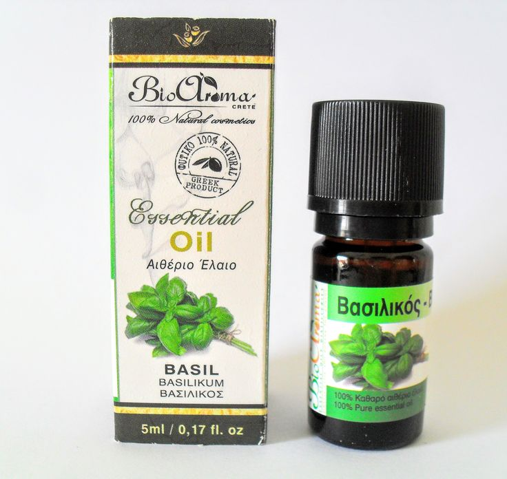 Basil essential oil. For aromatherapy at home.