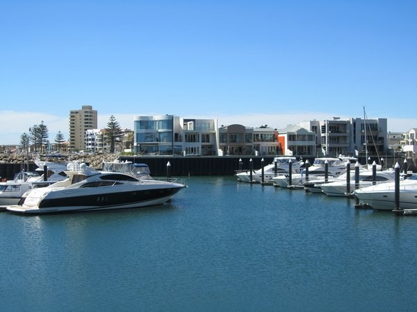 The beautiful harbour in Glenelg, South Australia. I lived 3 miles further north from here.