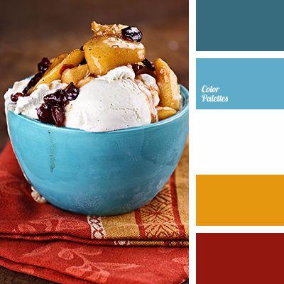 beige-peach color, Blue Color Palettes, bright blue, bright red, color ice cream, contrasting combination, deep blue, Orange Color Palettes
