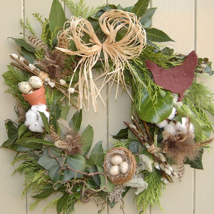 17 best images about spring door decorations on pinterest for 3 wreath door decoration