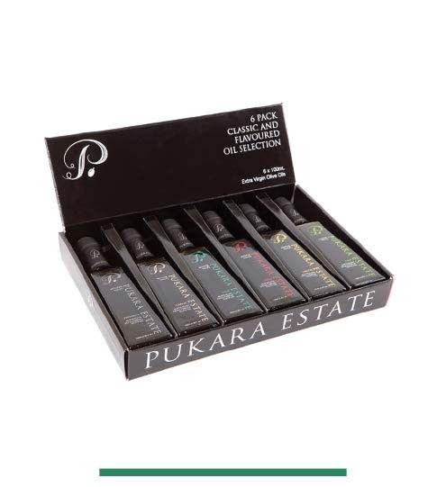 6 Pack Classic and Flavoured Oil Selection - 6 x 100 ml Olive Oils - Buy Online - Pukara Estate