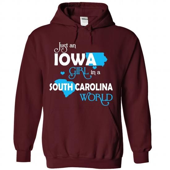 An IOWA-SOUTH CAROLINA girl Blue03 - #mens zip up hoodies #unique t shirts. PRICE CUT => https://www.sunfrog.com/States/An-IOWA-2DSOUTH-CAROLINA-girl-Blue03-Maroon-Hoodie.html?60505