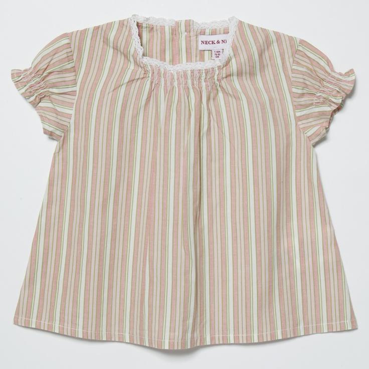 NECK & NECK. Blusa de niña.Girl Shirt