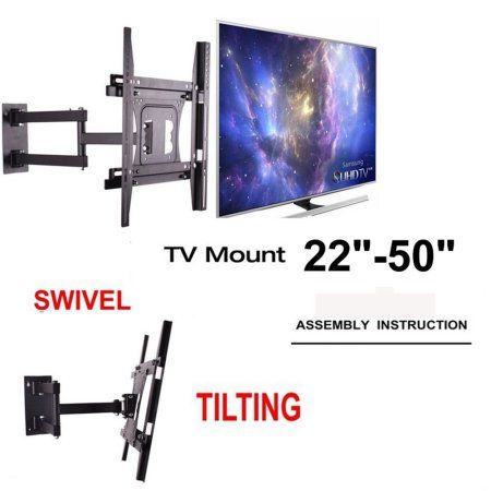 Free Shipping. Buy UNHO Full Motion TV Wall Mount for 22-50 inches TVs Tilt and Swivel Articulating Arm at Walmart.com