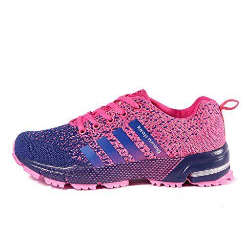 low priced 1080f 74652 Chaussures de course running sport Compétition Trail entraînement homme  femme basket ete baskets Rose 38
