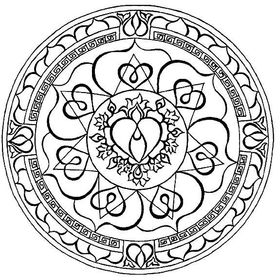 144 mejores imgenes de Mandalas para Colorir  Mandalas to Color