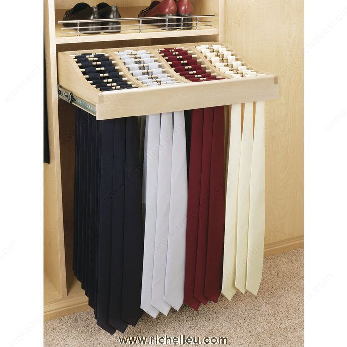 Sliding Tie Rack In Wood Cwtr24142 Richelieu Hardware