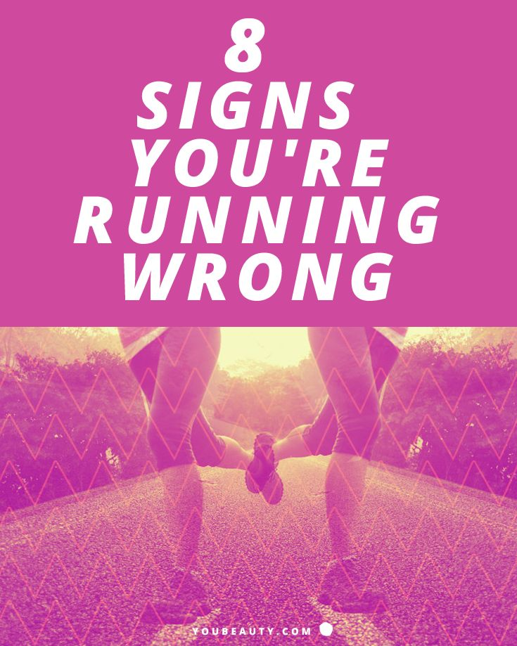 8 Signs You're Running Wrong - Running is an amazing way to stay fit and keep your heart healthy. In fact, doing it for just five minutes every day can help you live longer. But it's also a really good way to get hurt if you're doing it wrong. Whether you've just bought you first pair of running sneakers or are training for your first marathon, look out for these signals that something's off—and fix them to make running more enjoyable and beneficial for your health.