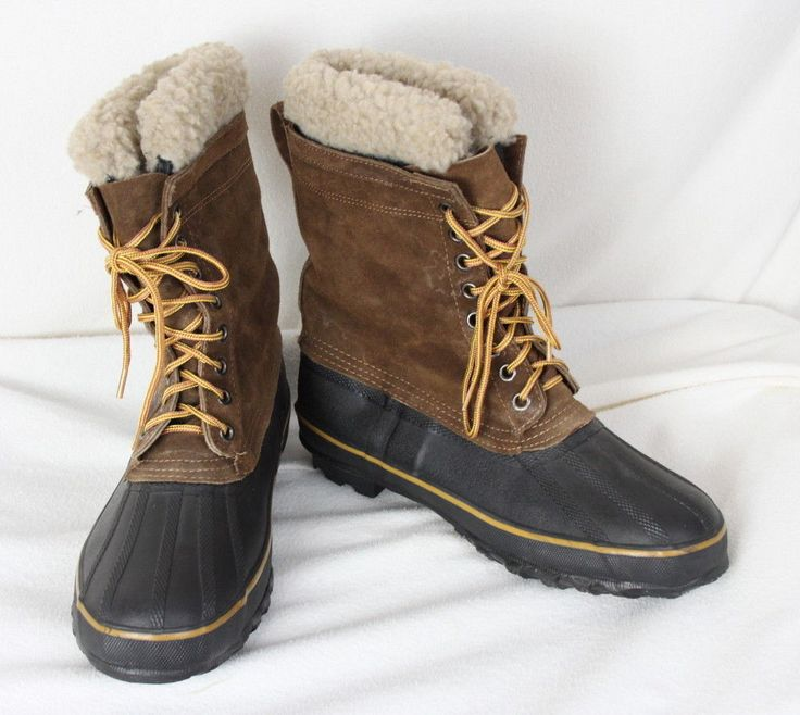 Rod & Gun size 11 Waterproof Mens Wool Lined Insulated Work Boots Steel Shank #RODGUN #WORKWINTER