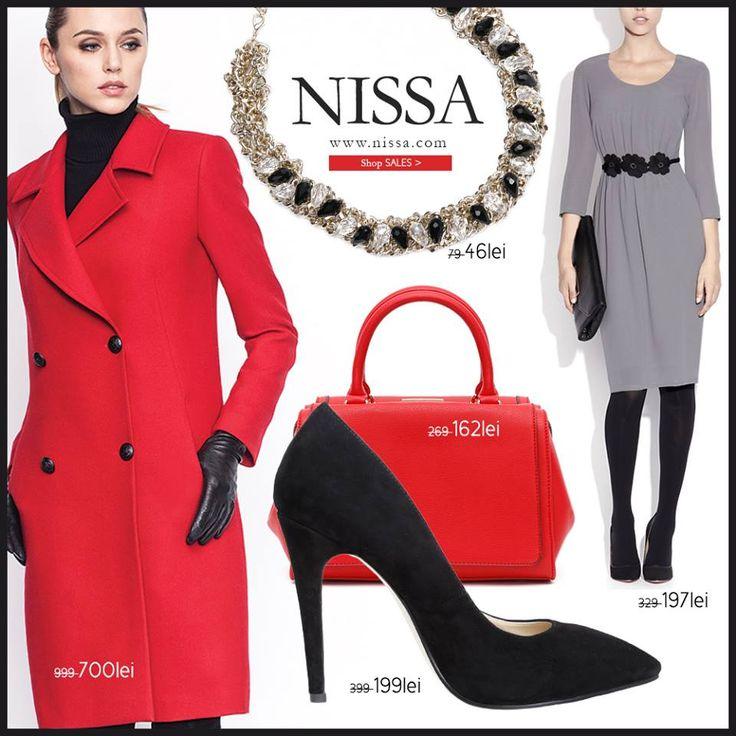 www.nissa.com  #nissa #outfit #offer #style #promotie #sale #redingota #rochie #geanta #pantofi #colier #fashion #fashionista