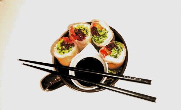 Smoked salmon salad rolls!