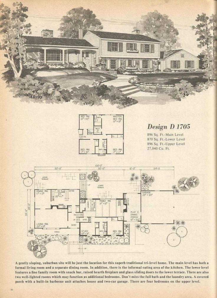 Find This Pin And More On Mid Century Modern Vintage House Plans
