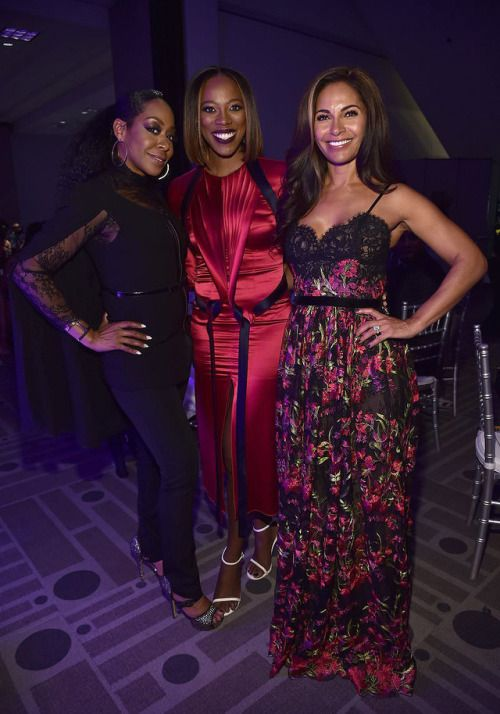 Tichina Arnold, Yvonne Orji and Sally Richardson-Whitfield attend the 49th NAACP Image Awards Non-Televised Award Show at The Pasadena Civic Auditorium on January 14, 2018 in Pasadena, California