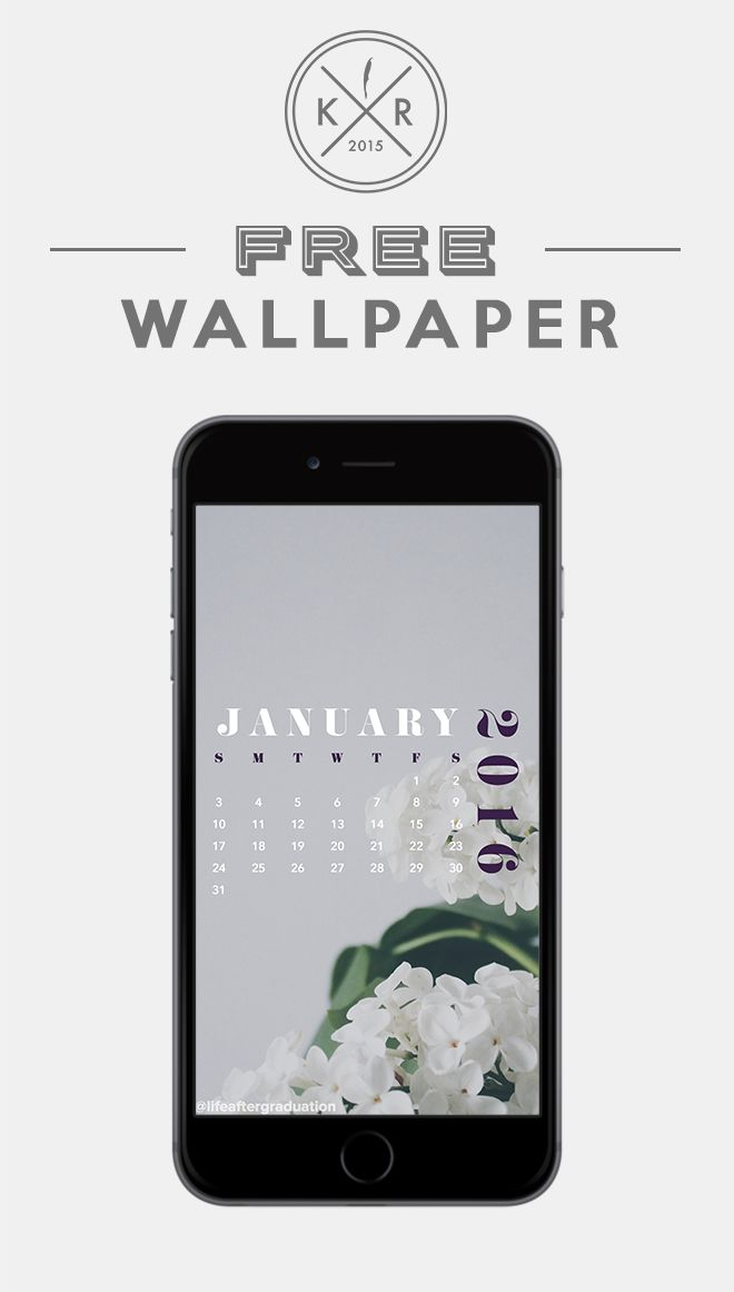 January 2016 calendar Flower calendar seires for you iPhone or android ...